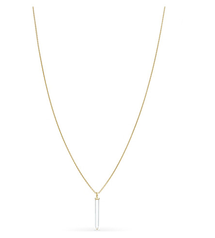 MISSOMA LTD Crystal wand 18ct gold necklace (Gold