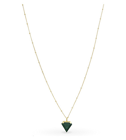 MISSOMA LTD Malachite shield 18ct gold vermeil necklace (Gold