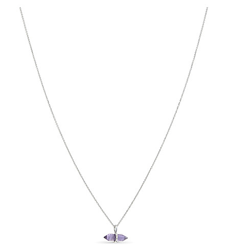 MISSOMA LTD Amethyst wand necklace (Silver