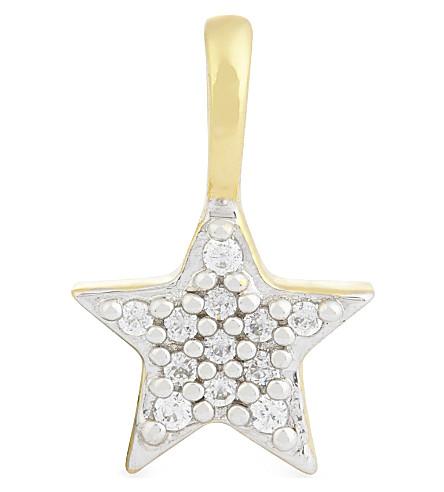 MISSOMA LTD 18ct gold vermeil pave star charm (Gold