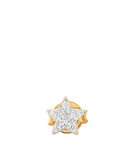 MISSOMA LTD Pave star 18ct gold vermeil single stud earring (Gold