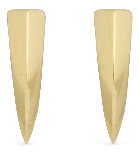 MISSOMA LTD 18ct gold vermeil dagger stud earrings (Gold