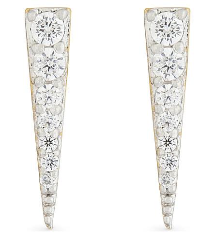 MISSOMA LTD Spike 18ct gold vermeil stud earrings (Gold