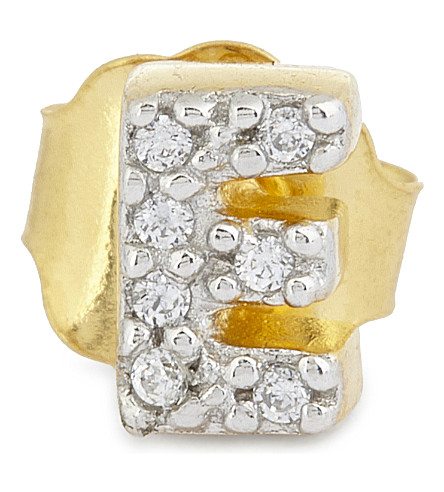 MISSOMA LTD E 18ct gold vermeil stud earring (Gold