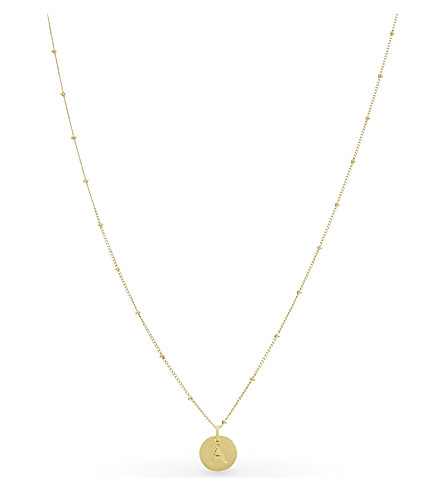 MISSOMA LTD A initial beaded 18ct gold vermeil necklace (Gold