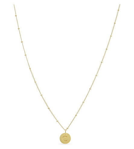 MISSOMA LTD C initial beaded 18ct gold vermeil necklace (Gold
