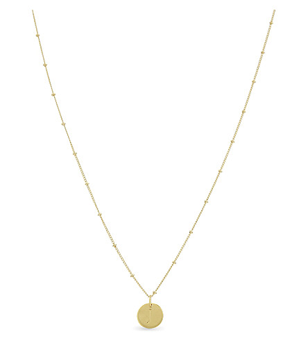 MISSOMA LTD J initial beaded 18ct gold vermeil necklace (Gold