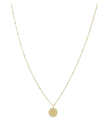 MISSOMA LTD O initial beaded 18ct gold vermeil necklace (Gold