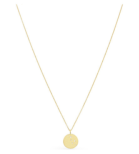 MISSOMA LTD 18ct gold vermeil hammered disc pendant necklace (Gold