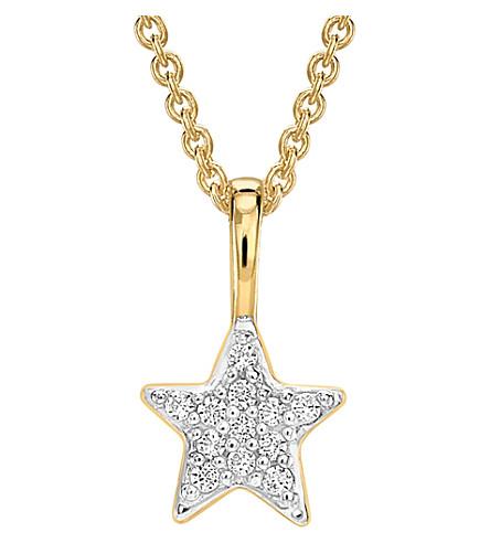 MISSOMA LTD Zircon pavé star 18ct gold vermeil necklace (Gold