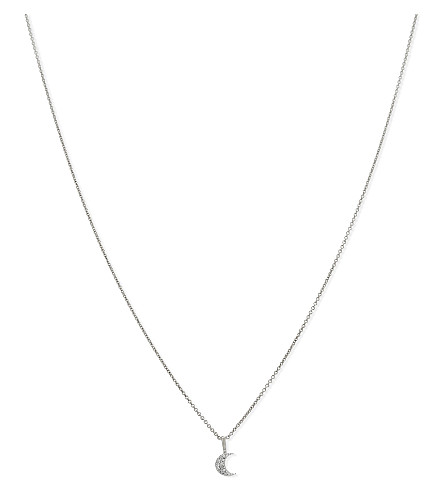 MISSOMA LTD Pave moon sterling silver necklace (Silver