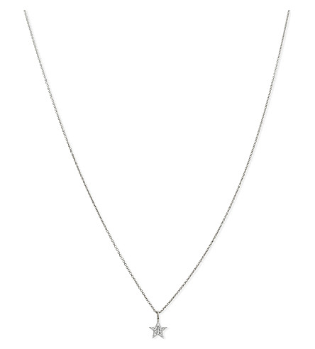 MISSOMA LTD Star sterling silver crystal necklace (Silver