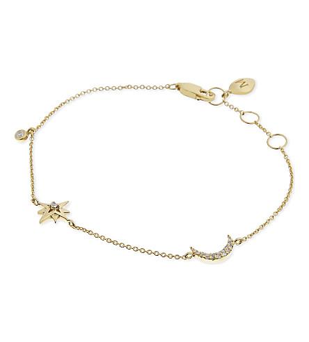 MISSOMA LTD Star and moon charm bracelet (Gold