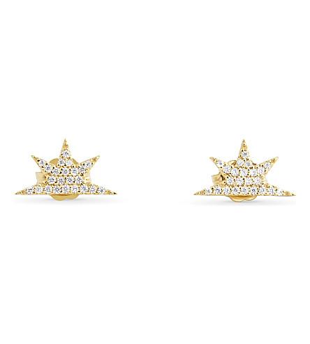 MISSOMA LTD Half star earrings (Gold