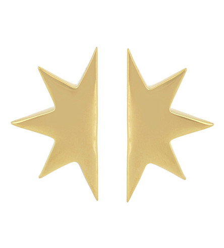 MISSOMA LTD 18ct gold vermeil star stud earrings (Gold