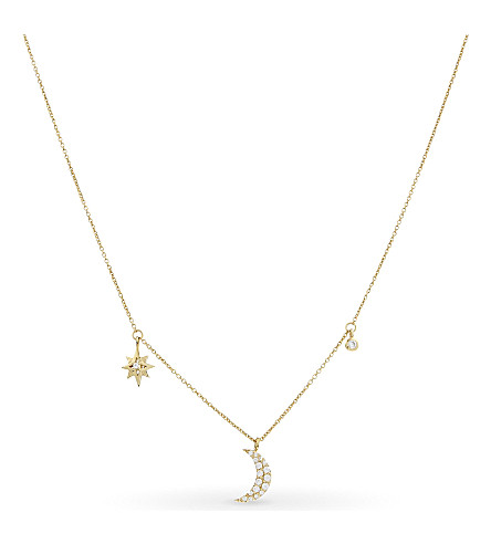 MISSOMA LTD Star and moon necklace (Gold