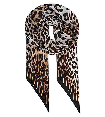 ROCKINS Leopard's teeth skinny scarf (Gold