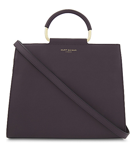 KURT GEIGER LONDON Heidi leather tote bag (Wine