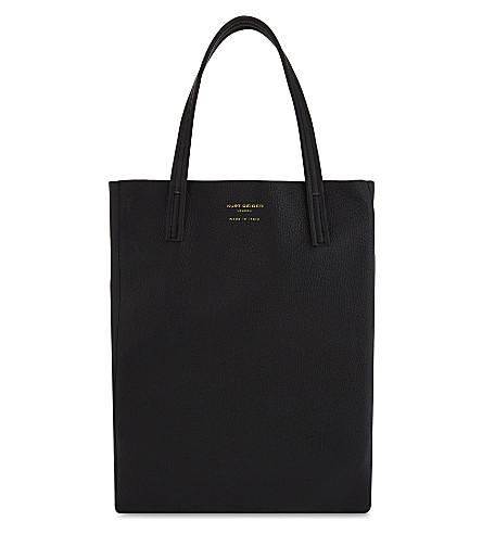 KURT GEIGER LONDON 紫立式手提袋 (黑色
