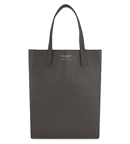 KURT GEIGER LONDON Violet Vertical tote leather bag (Grey