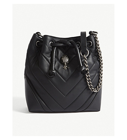 KURT GEIGER LONDON Kensington leather cross-body bag (Black