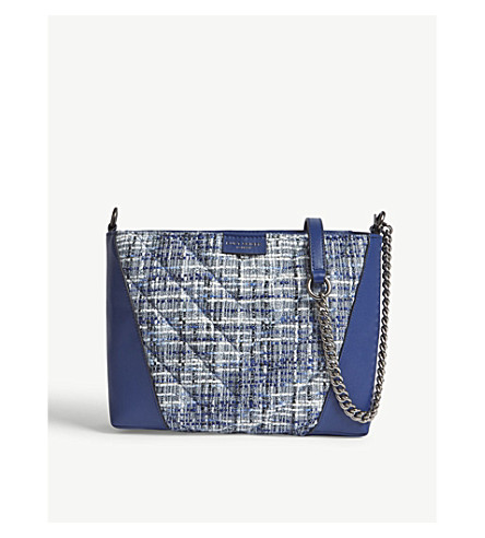 KURT GEIGER LONDON Kensington leather cross-body bag (Blue