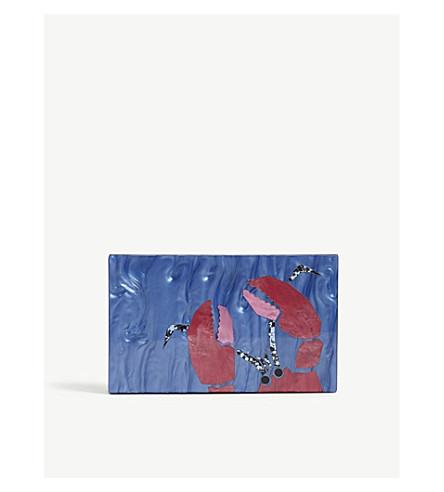 KURT GEIGER LONDON Lobster clutch bag (Blue+other