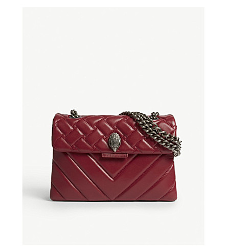 KURT GEIGER LONDON Kensington quilted leather shoulder bag (Fushia