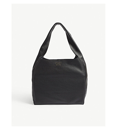 KURT GEIGER LONDON Violet leather hobo bag (Black