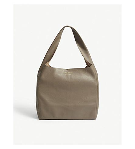 KURT GEIGER LONDON Violet leather hobo bag (Taupe