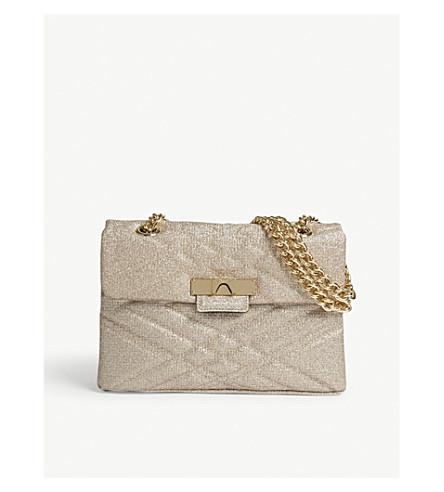 KURT GEIGER LONDON Mayfair glitter cross-body bag (Gold