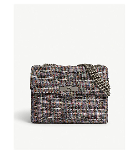 KURT GEIGER LONDON Mayfair tweed shoulder bag (Blk/other