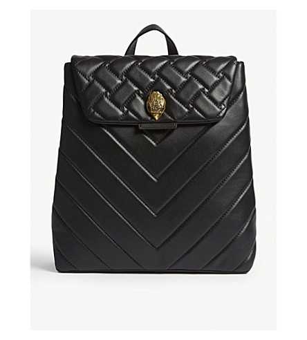 KURT GEIGER LONDON Kensington quilted leather backpack (Black