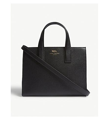 KURT GEIGER LONDON London small Saffiano leather tote (Black