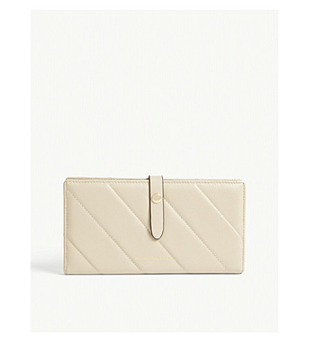 KURT GEIGER LONDON Quilted soft leather wallet (Beige