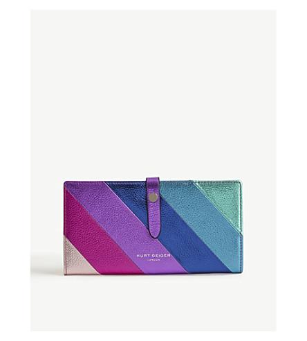 KURT GEIGER LONDON Metallic leather wallet (Mult/other