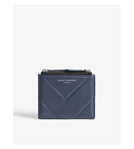 KURT GEIGER LONDON Chevron leather mini purse (Blue/dark