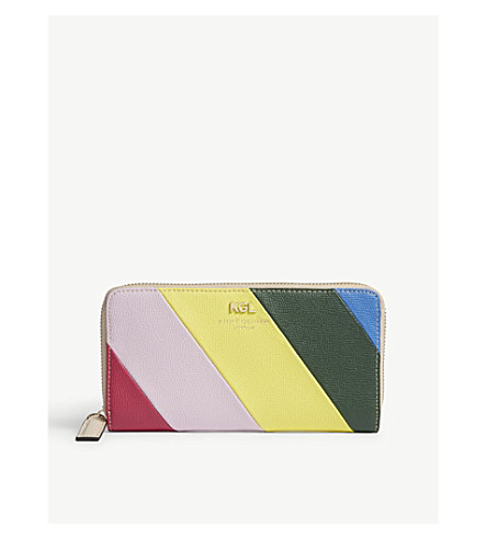 KURT GEIGER LONDON Stripe leather wallet (Mult/other