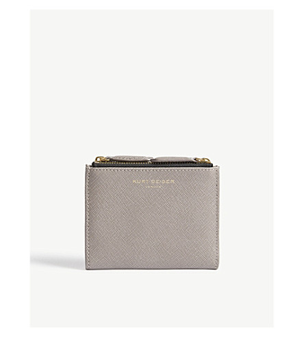 KURT GEIGER LONDON Saffiano leather purse (Taupe