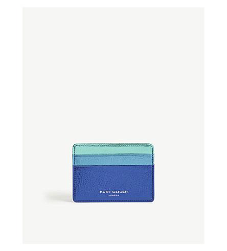 KURT GEIGER LONDON Multi-tonal metallic leather card holder (Mult/other