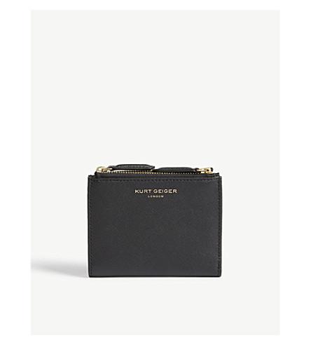 KURT GEIGER LONDON Saffiano leather purse (Black