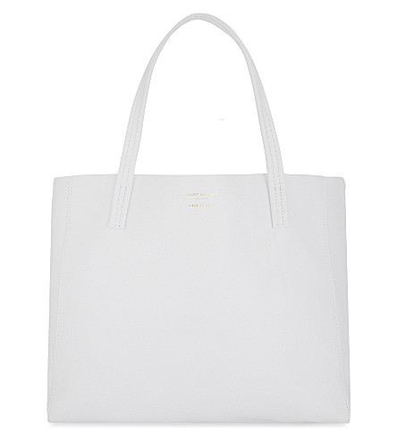 KURT GEIGER LONDON Violet horizontal leather tote (White