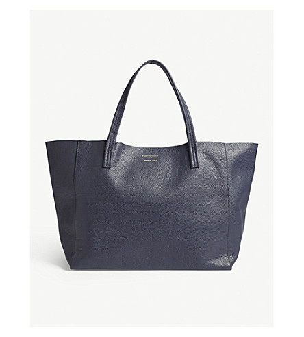 KURT GEIGER LONDON Violet horizontal leather tote (Navy