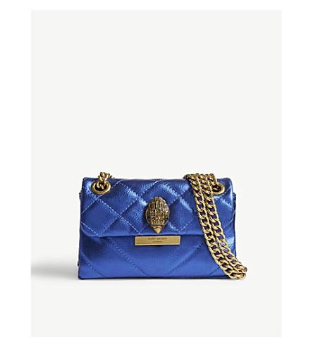 KURT GEIGER LONDON Mini Kensington leather shoulder bag (Blue