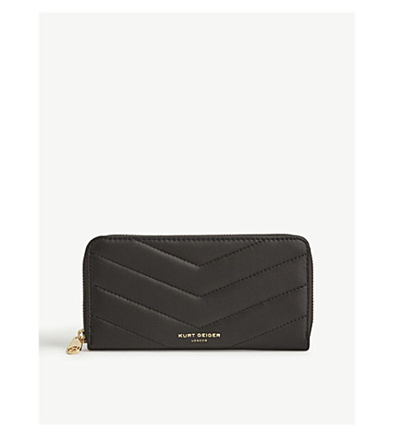 KURT GEIGER LONDON Quilted leather wallet (Blk/other