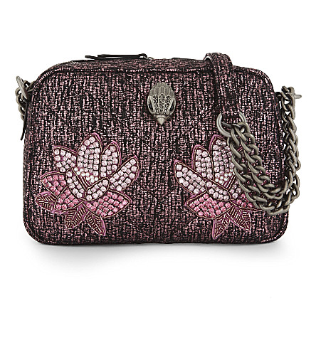 KURT GEIGER LONDON Beaded cross-body bag (Pink