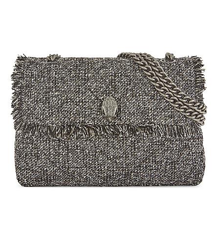 KURT GEIGER LONDON Kensington quilted shoulder bag (Grey