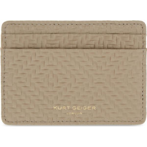 Woven-textured leather card holder