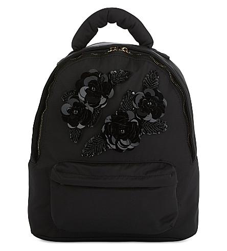 KURT GEIGER LONDON Fabric Chantal backpack (Black