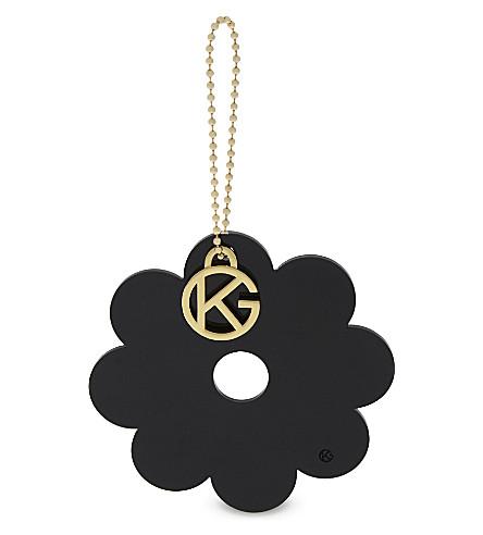KURT GEIGER LONDON Flower bag charm (Black